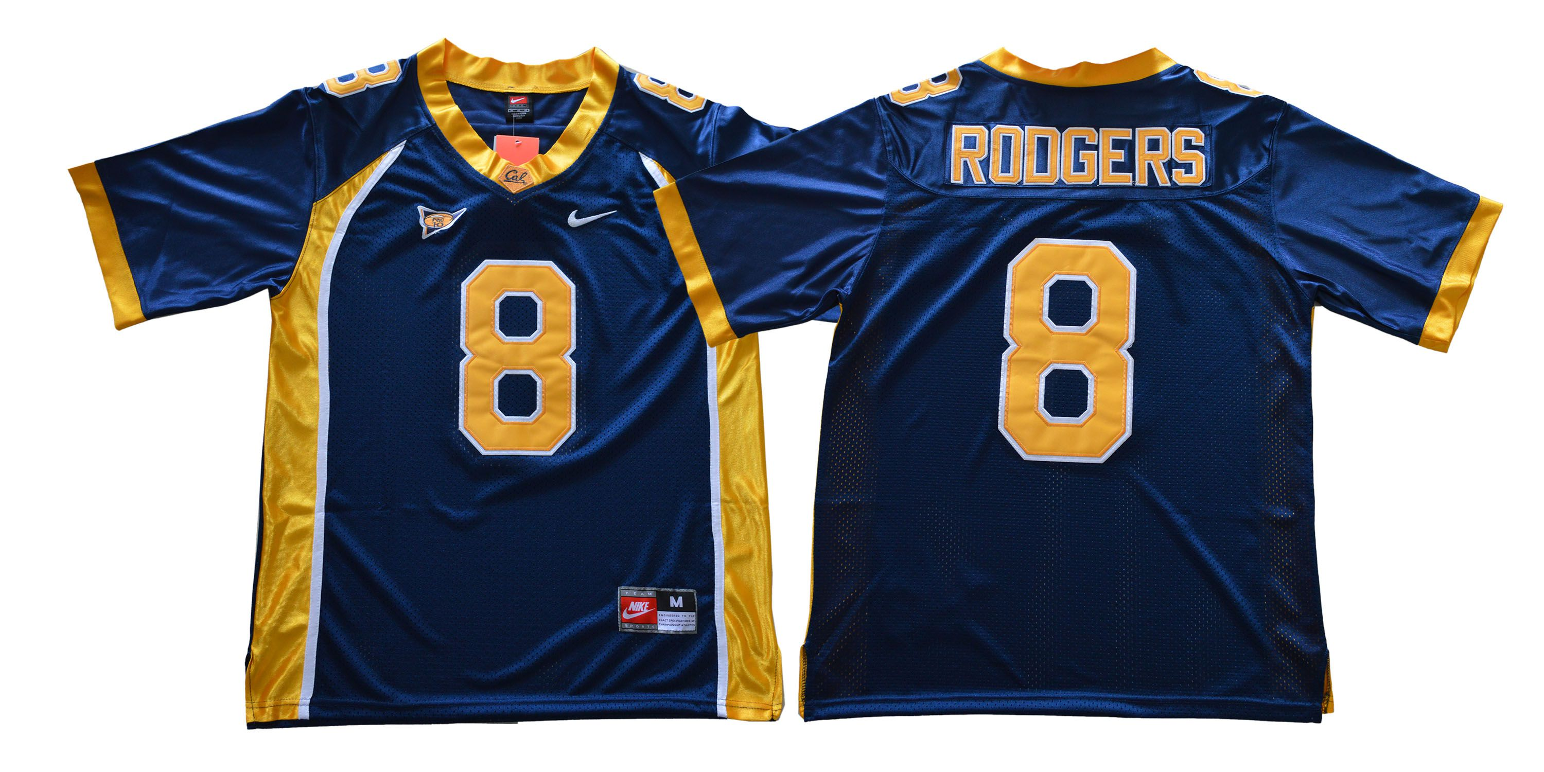 Men California Golden Bears 8 Rodgers Blue Nike NCAA Jerseys