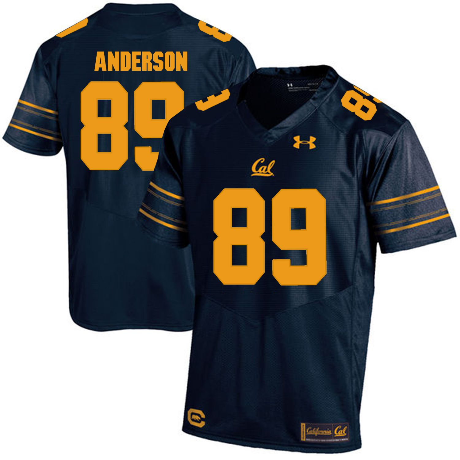 Men California Golden Bears 89 Stephen Anderson Dark blue Customized NCAA Jerseys1