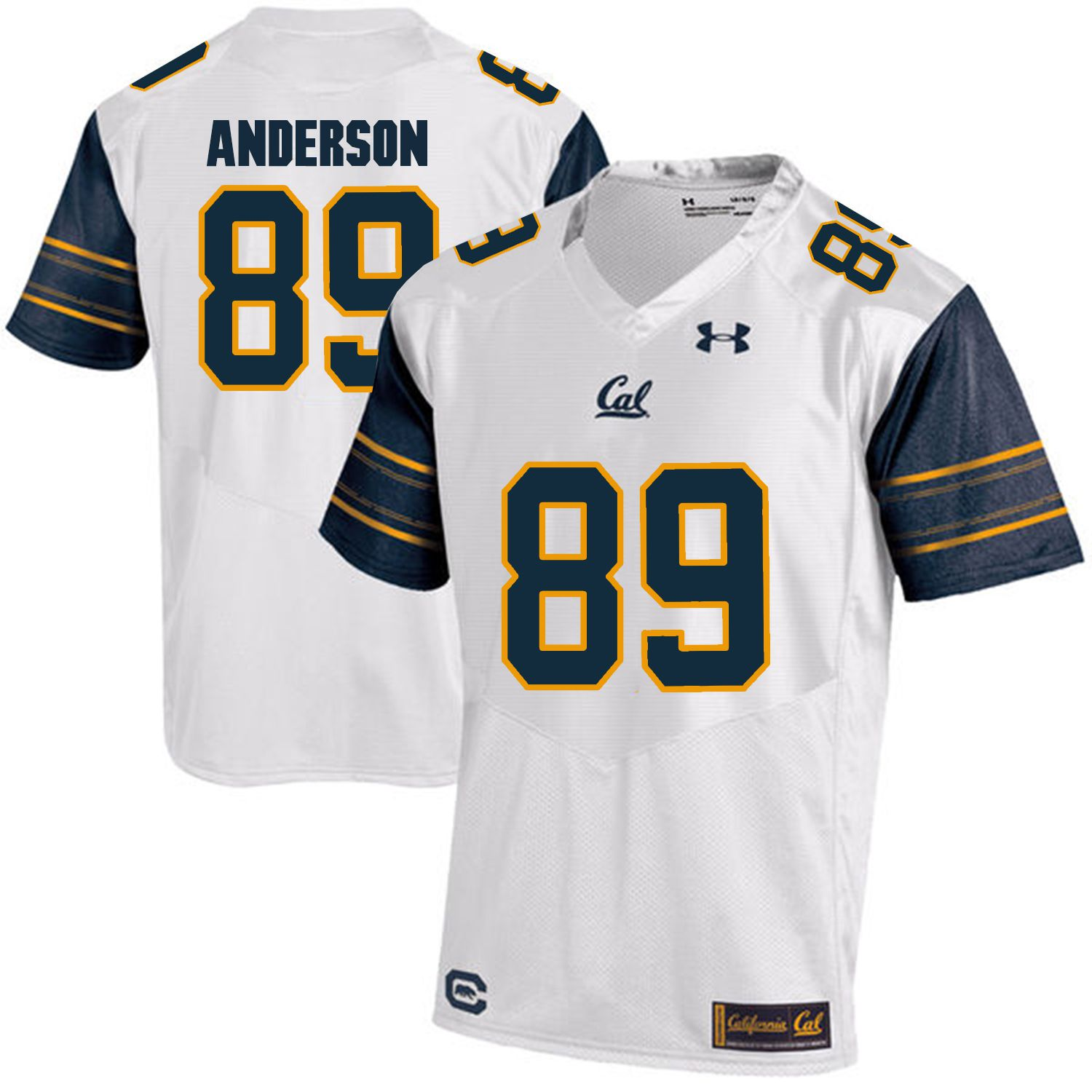 Men California Golden Bears 89 Stephen Anderson White Customized NCAA Jerseys1