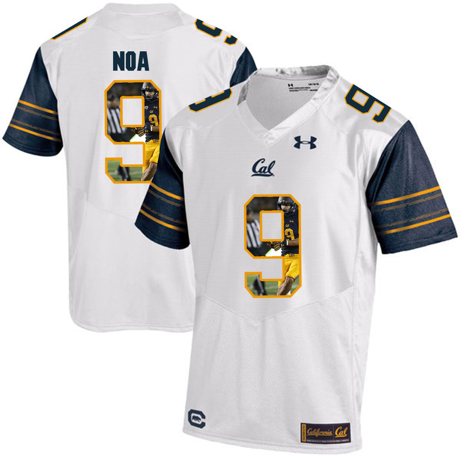 Men California Golden Bears 9 Kanawai Noa White Customized NCAA Jerseys