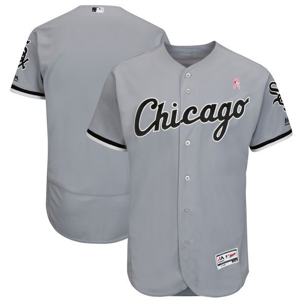 Men Chicago White Sox Blank Grey Mothers Edition MLB Jerseys
