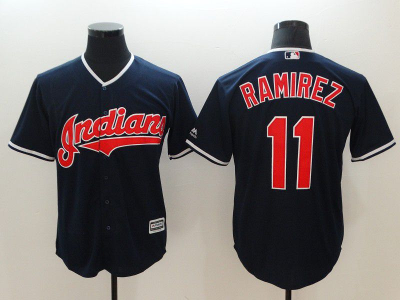Men Cleveland Indians 11 Ramirez Blue Game MLB Jerseys