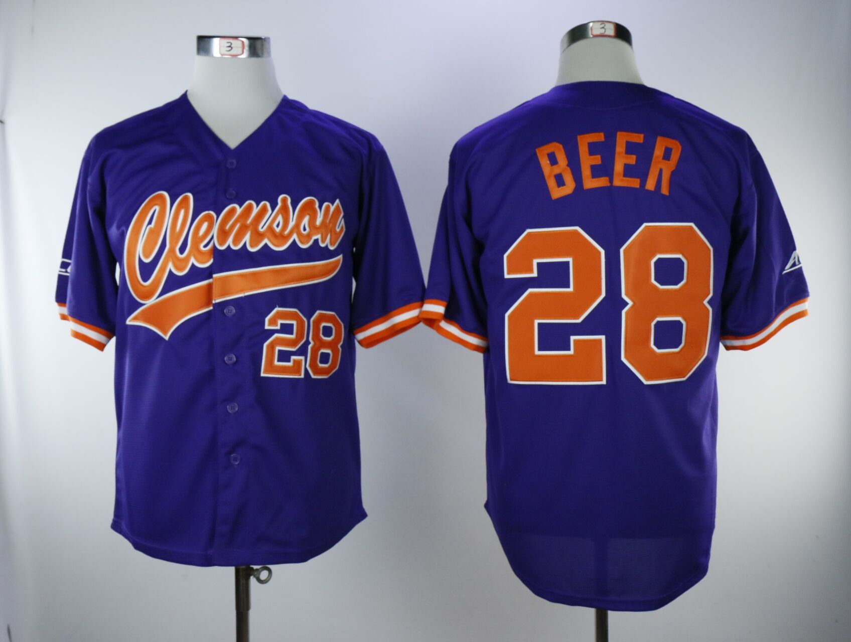 Men Detroit Tigers 28 Beer Purple MLB Jerseys