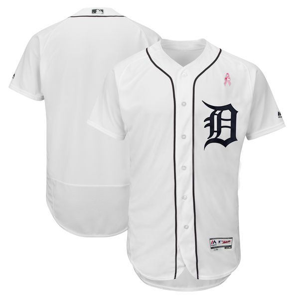 Men Detroit Tigers Blank White Mothers Edition MLB Jerseys