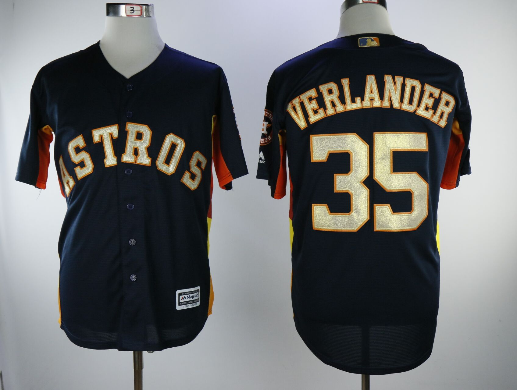 Men Houston Astros 35 Verlander Blue Game Champion Edition MLB Jerseys