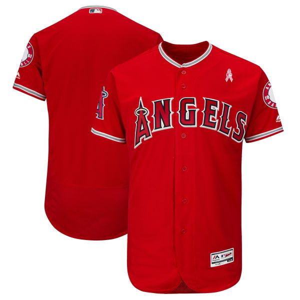 Men Los Angeles Angels Blank Red Mothers Edition MLB Jerseys