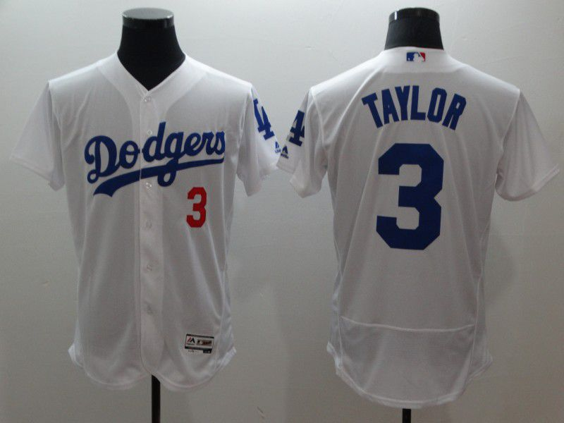 Men Los Angeles Dodgers 3 Taylor White Elite MLB Jerseys