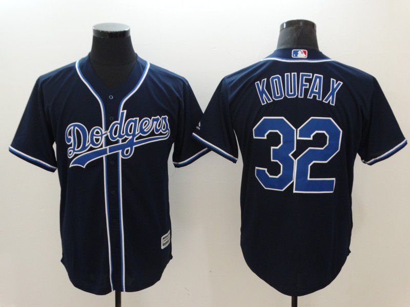 Men Los Angeles Dodgers 32 Koufax Black Game MLB Jerseys