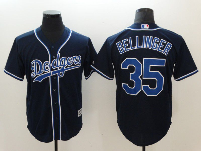 Men Los Angeles Dodgers 35 Bellinger Black Game MLB Jerseys