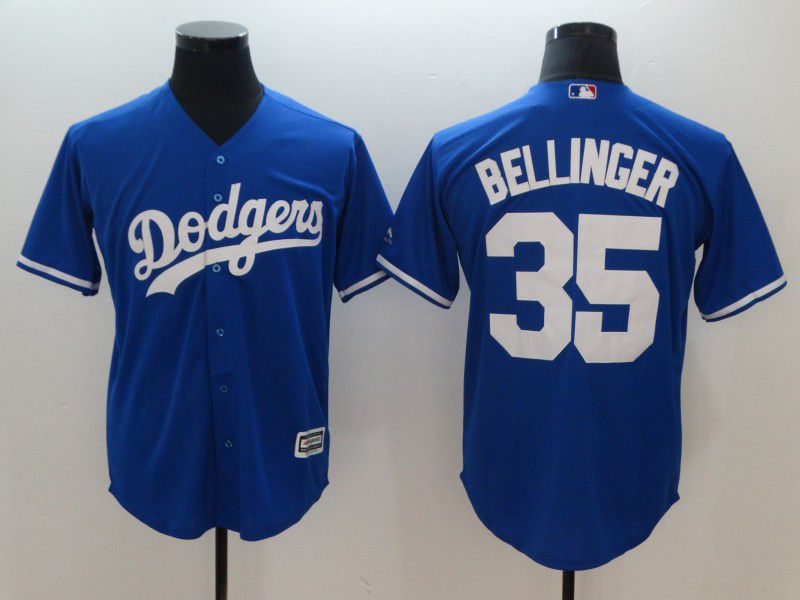 Men Los Angeles Dodgers 35 Bellinger Blue Game MLB Jerseys