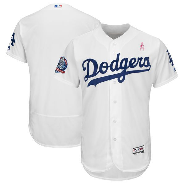 Men Los Angeles Dodgers Blank White Mothers Edition MLB Jerseys