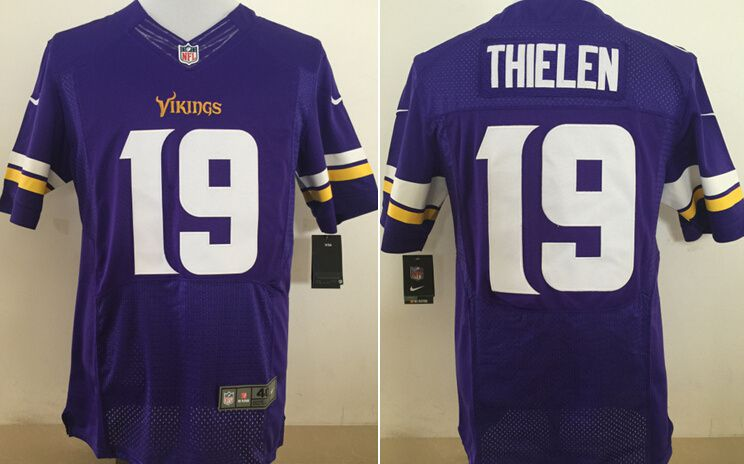 Men Minnesota Vikings 19 Thielen Purple Nike Elite NFL Jerseys