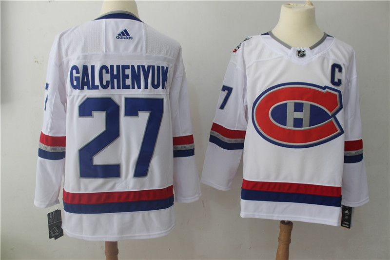 Men Montreal Canadiens 27 Galchenyuk White Hockey Stitched Adidas NHL Jerseys