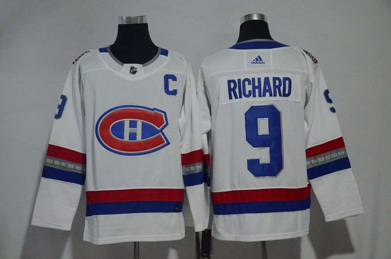 Men Montreal Canadiens 9 Richard White Hockey Stitched Adidas NHL Jerseys