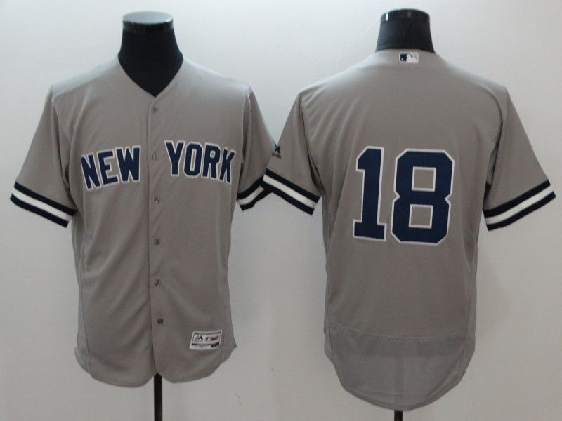 Men New York Yankees 18 Gregorius Grey Elite MLB Jerseys