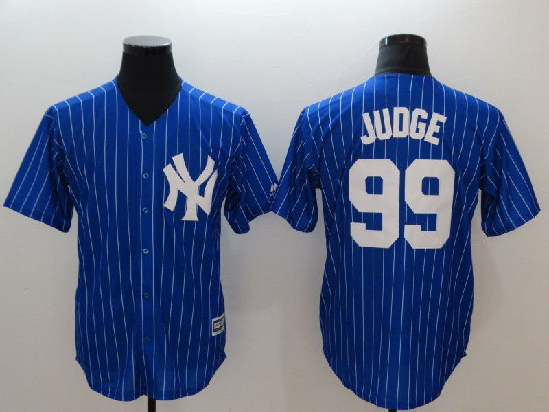 Men New York Yankees 99 Judge Blue MLB Jerseys