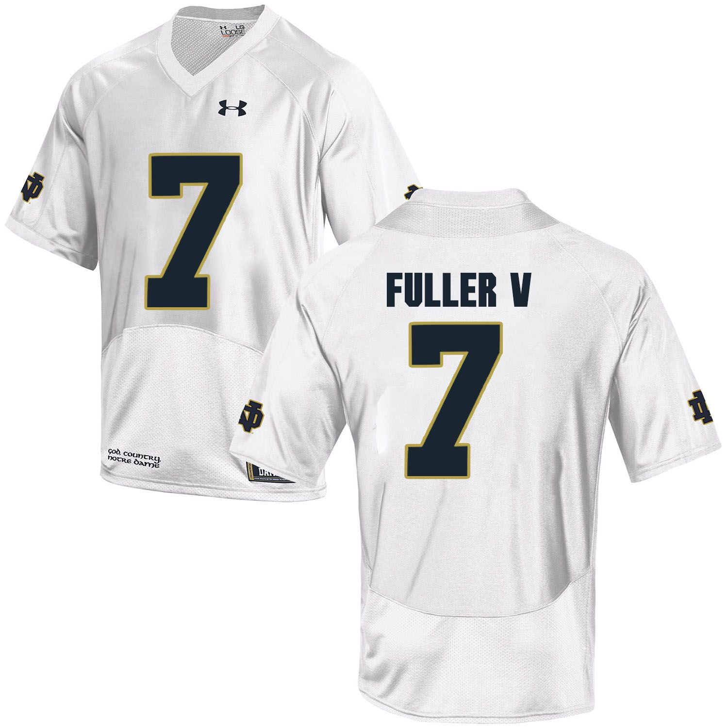 Men Norte Dame Fighting Irish 7 Fuller v White Customized NCAA Jerseys