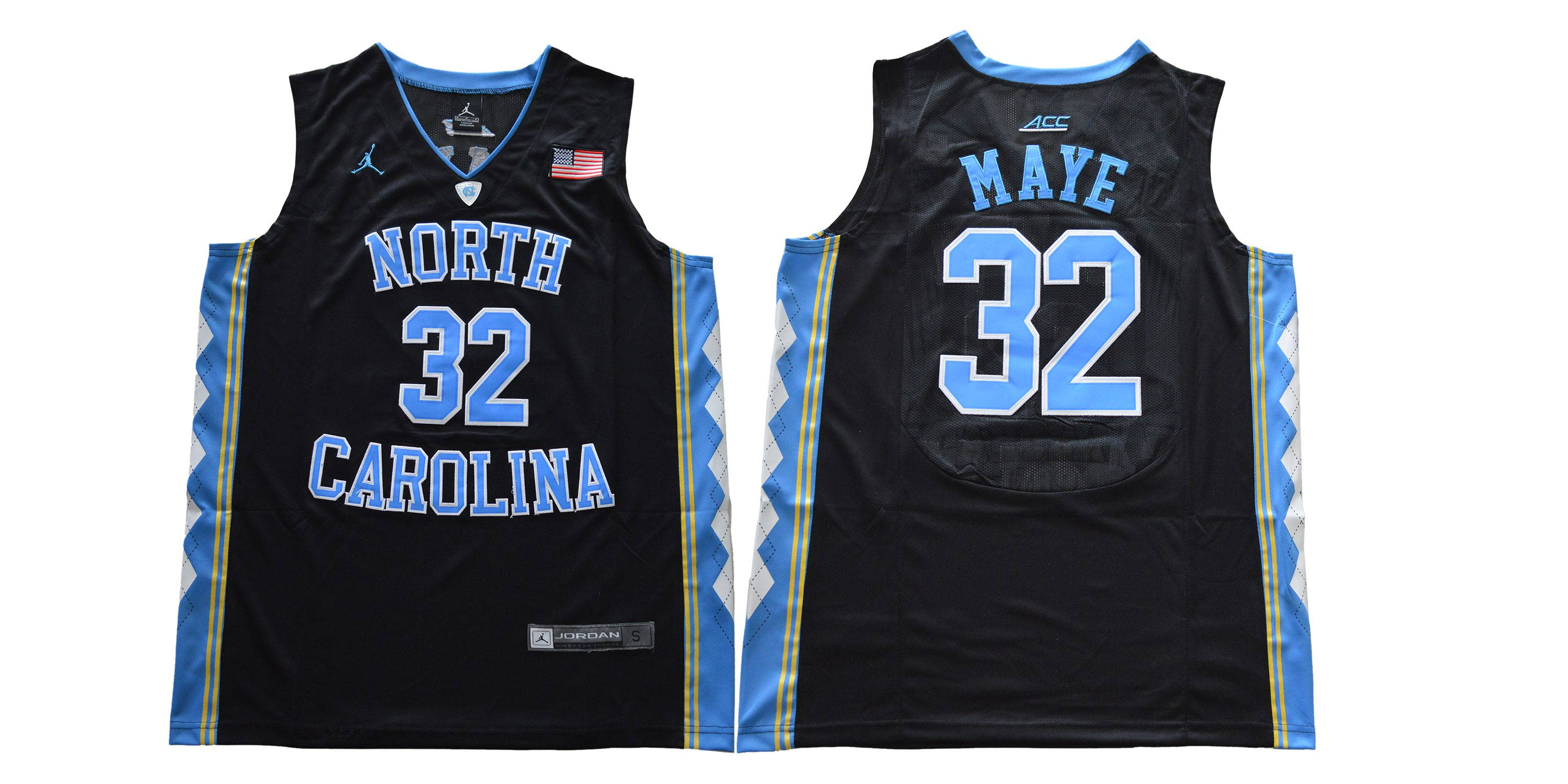 Men North Carolina Tar Heels 32 Maye Black NCAA Jerseys