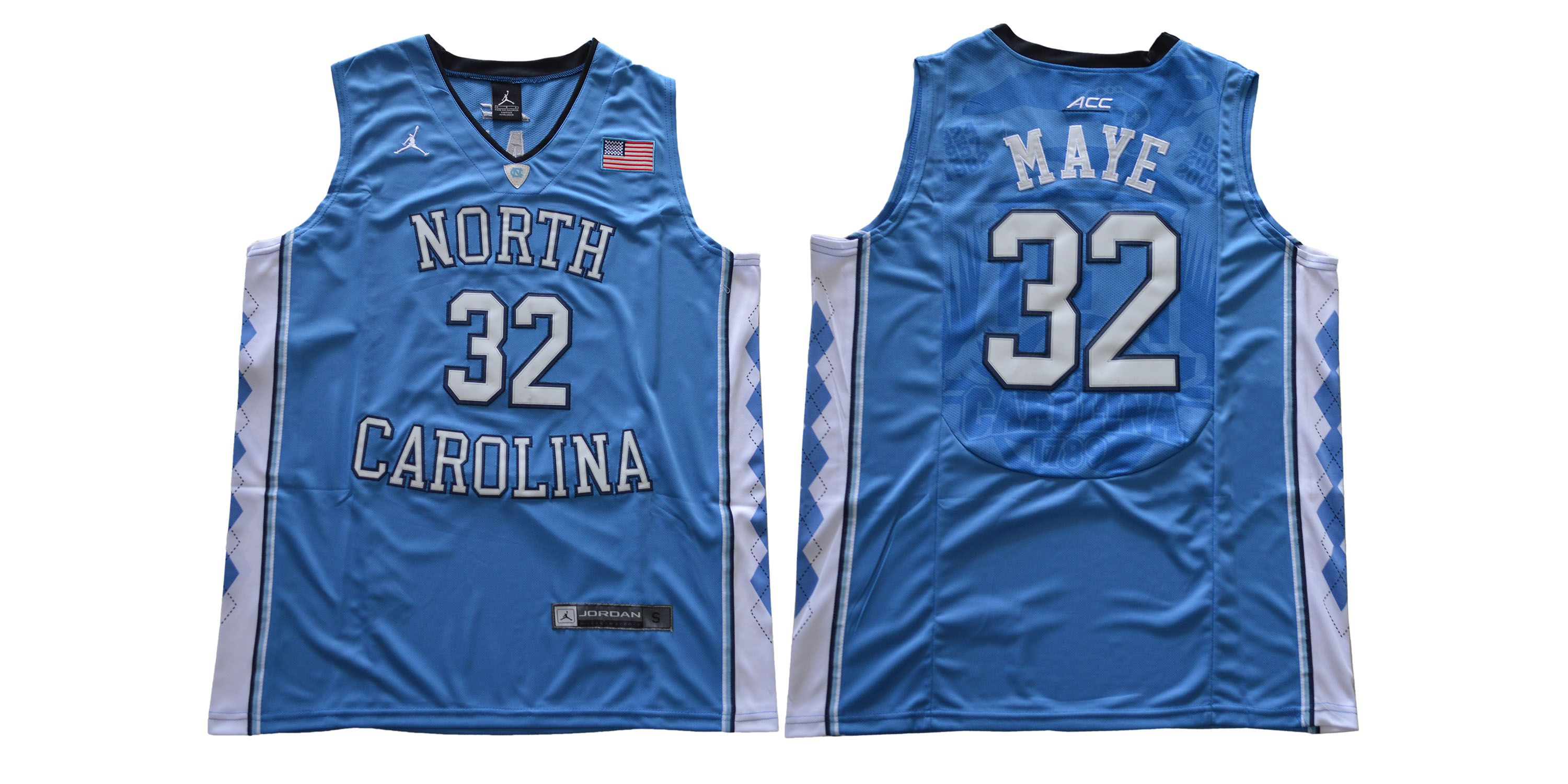 Men North Carolina Tar Heels 32 Maye Light Blue NCAA Jerseys