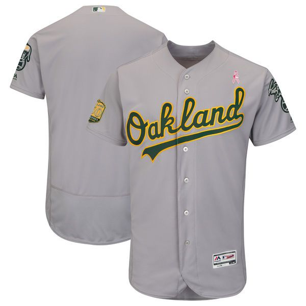 Men Oakland Athletics Blank Grey Mothers Edition MLB Jerseys