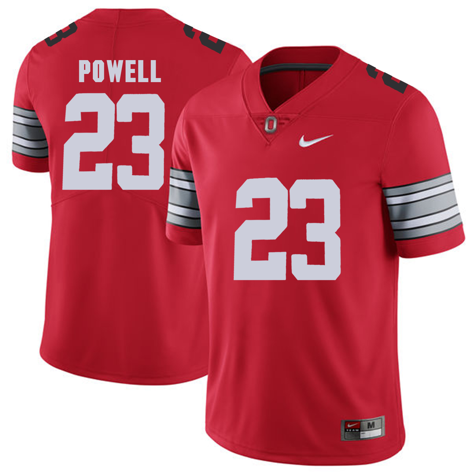 Men Ohio State 23 Powell Red Customized NCAA Jerseys