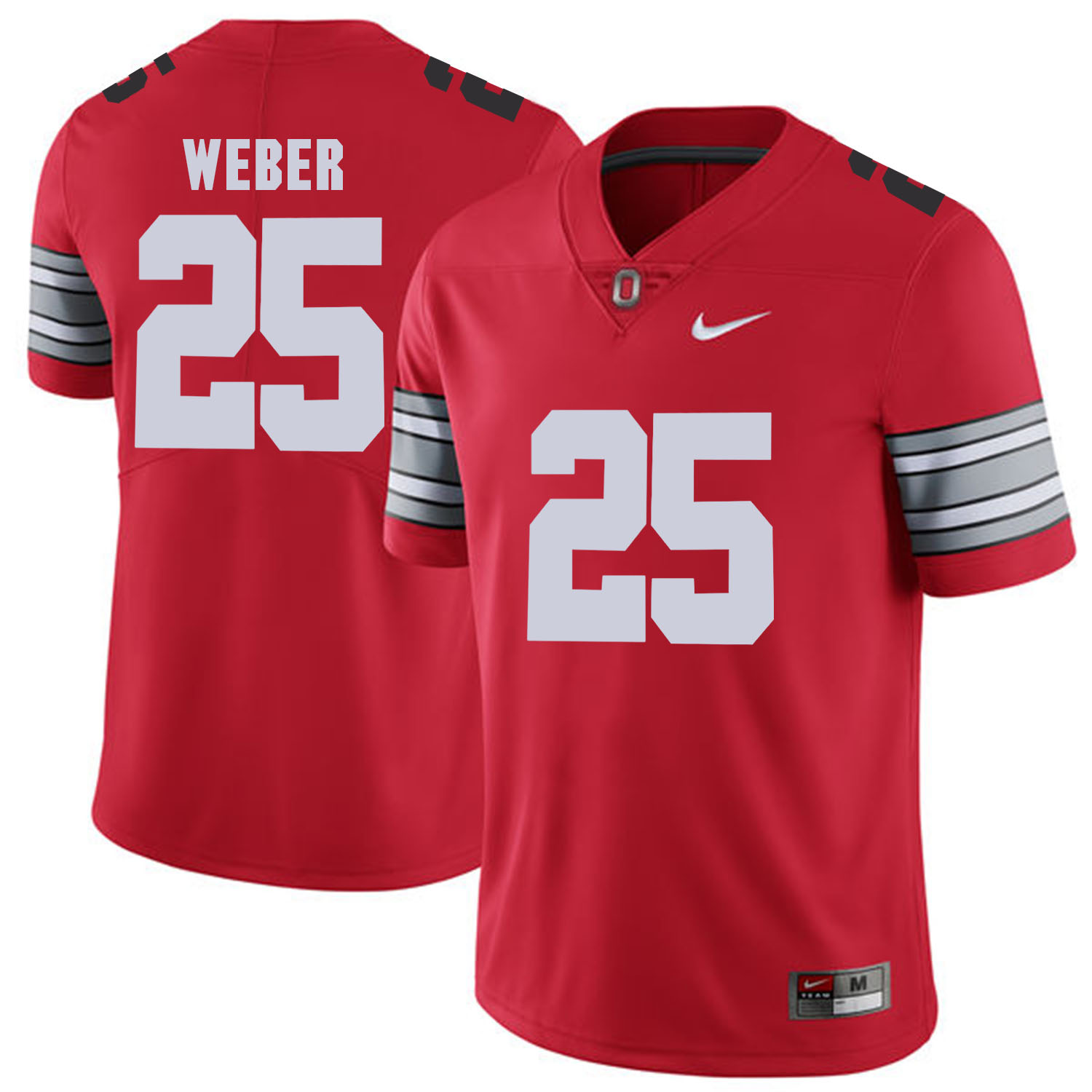 Men Ohio State 25 Weber Red Customized NCAA Jerseys