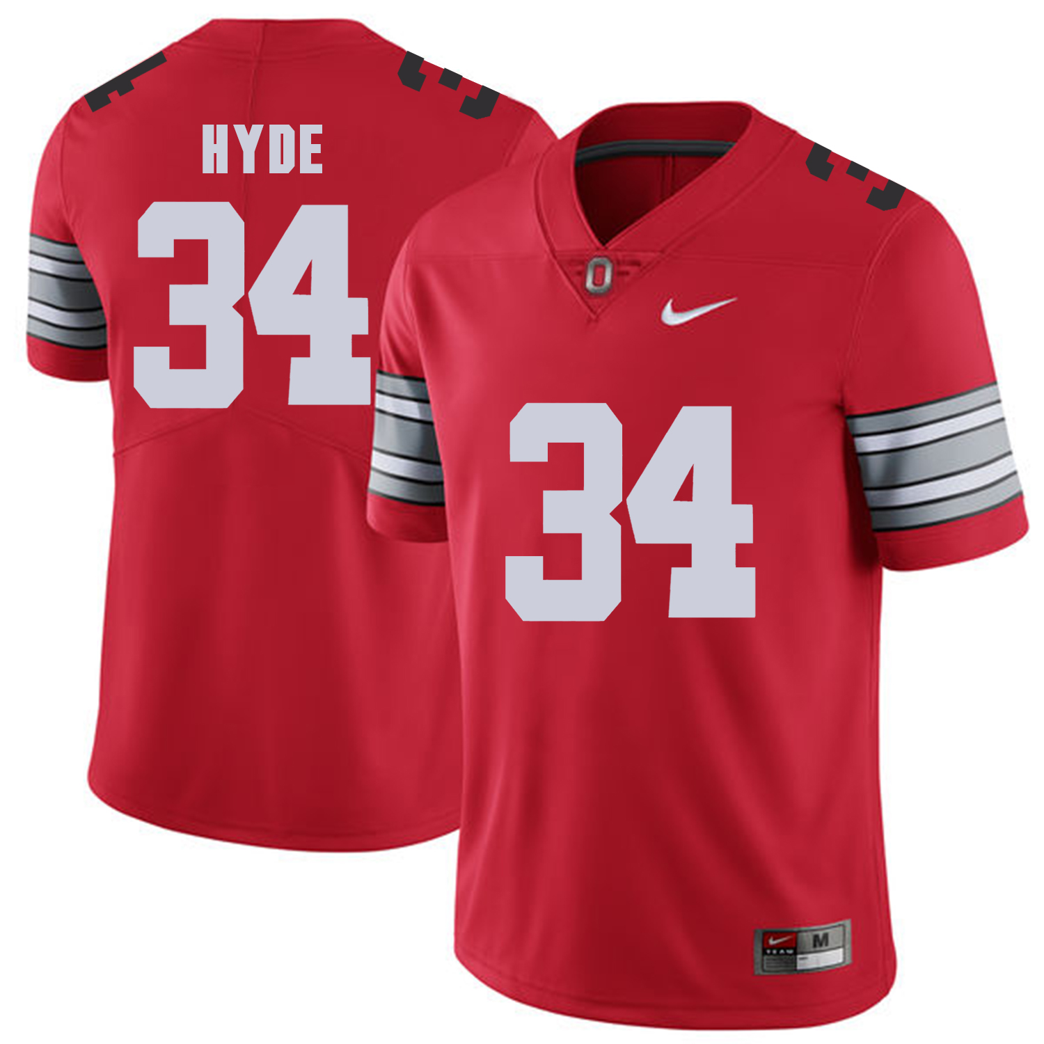 Men Ohio State 34 Hyde Red Customized NCAA Jerseys