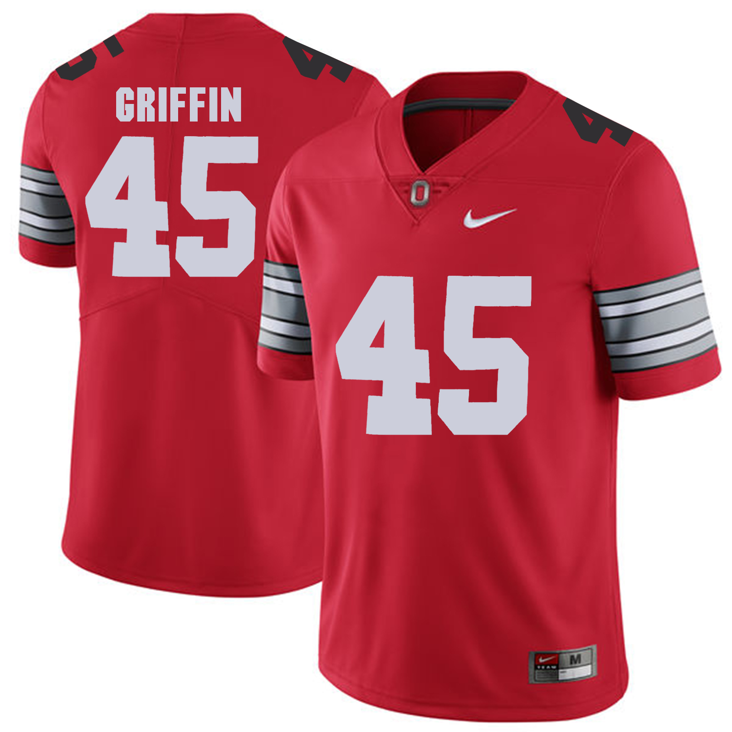 Men Ohio State 45 Griffin Red Customized NCAA Jerseys