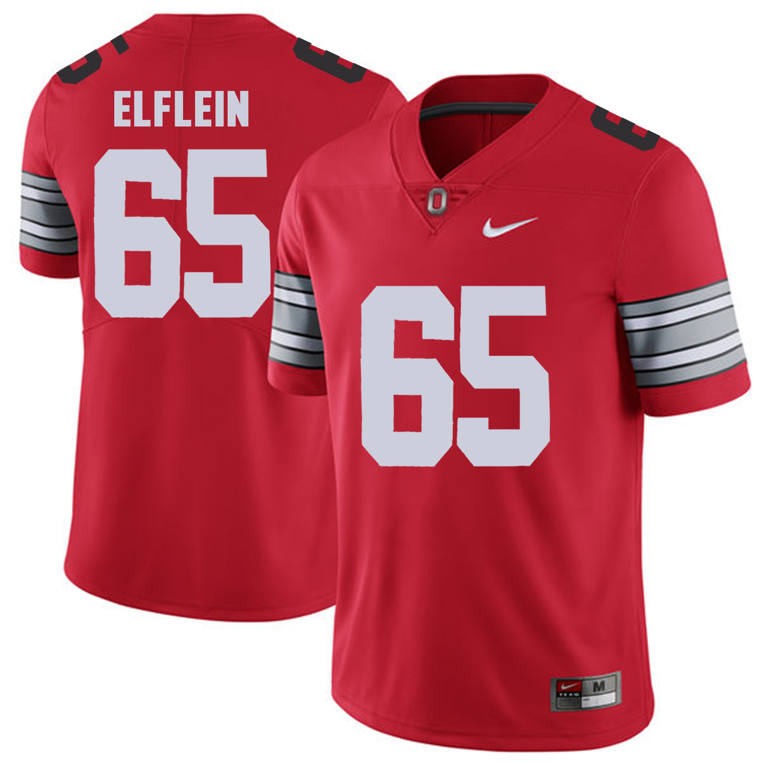 Men Ohio State 65 Elflein Red Customized NCAA Jerseys