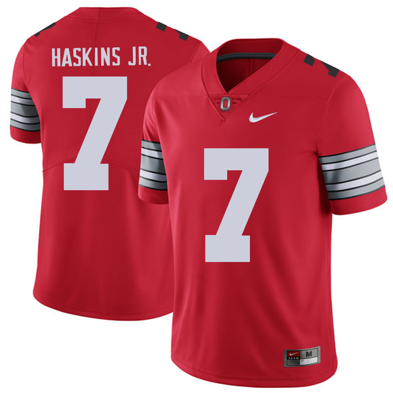 Men Ohio State 7 Haskins jr Red Customized NCAA Jerseys