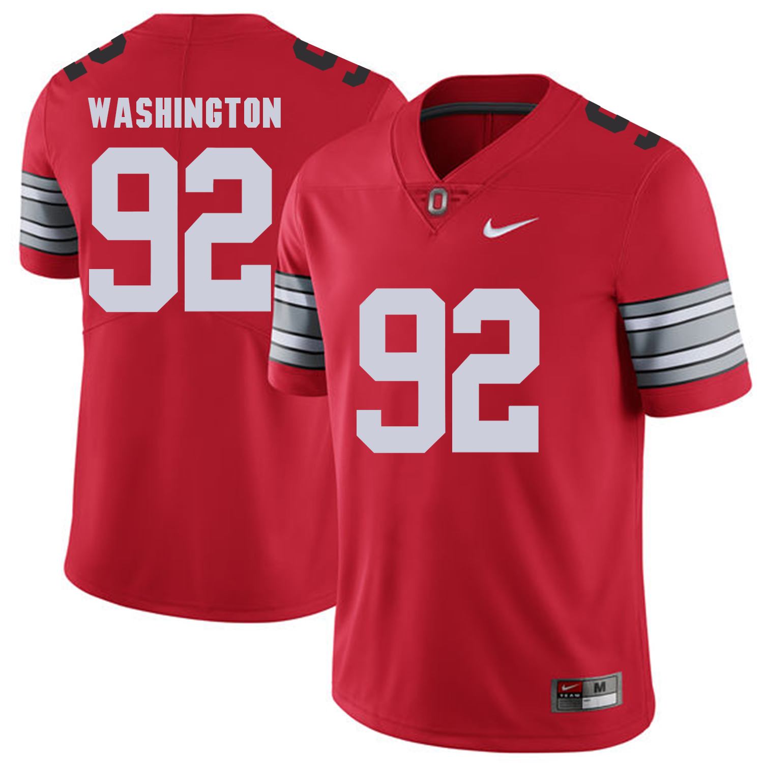 Men Ohio State 92 Washington Red Customized NCAA Jerseys