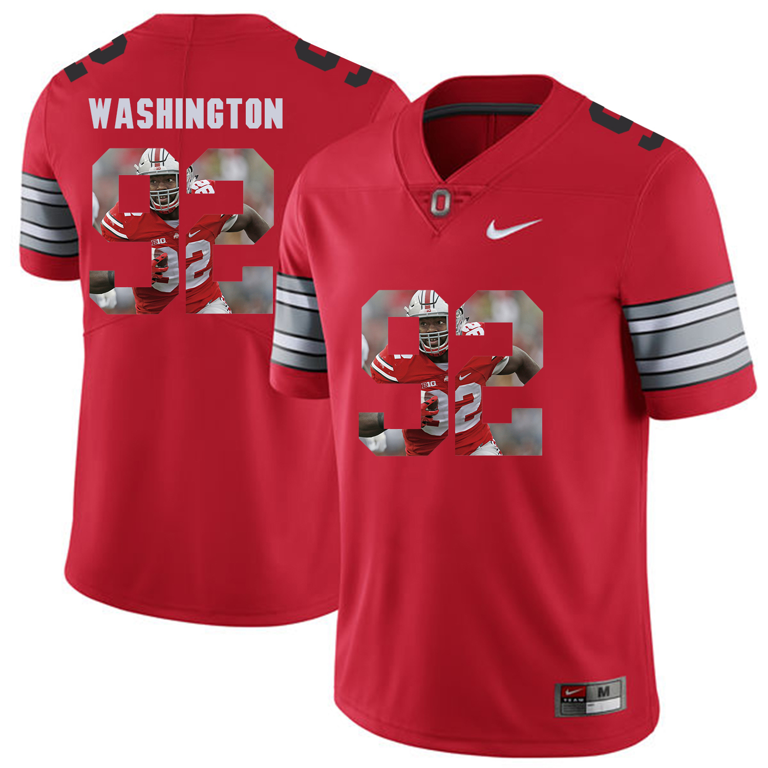 Men Ohio State 92 Washington Red Fashion Edition Customized NCAA Jerseys