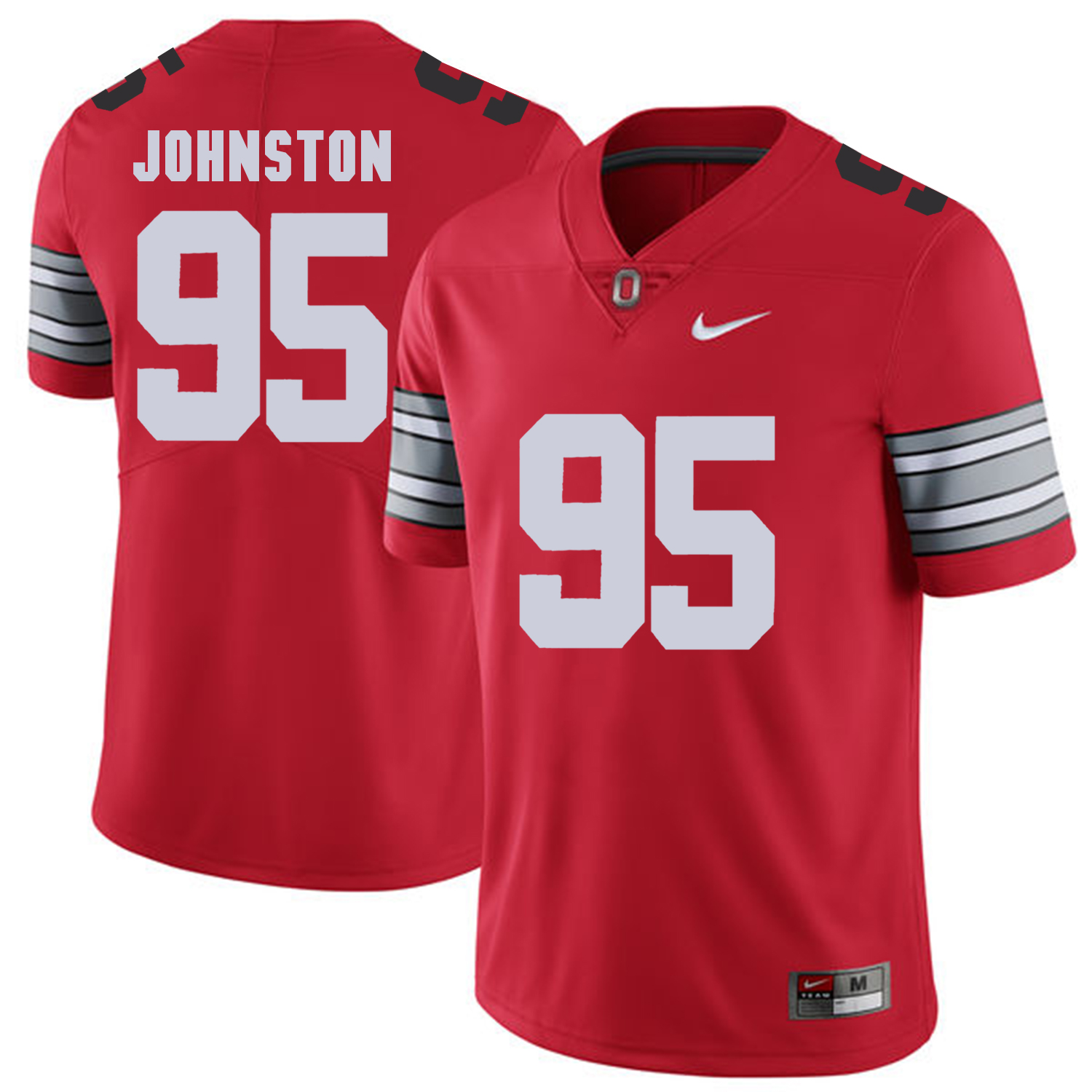 Men Ohio State 95 Johnston Red Customized NCAA Jerseys