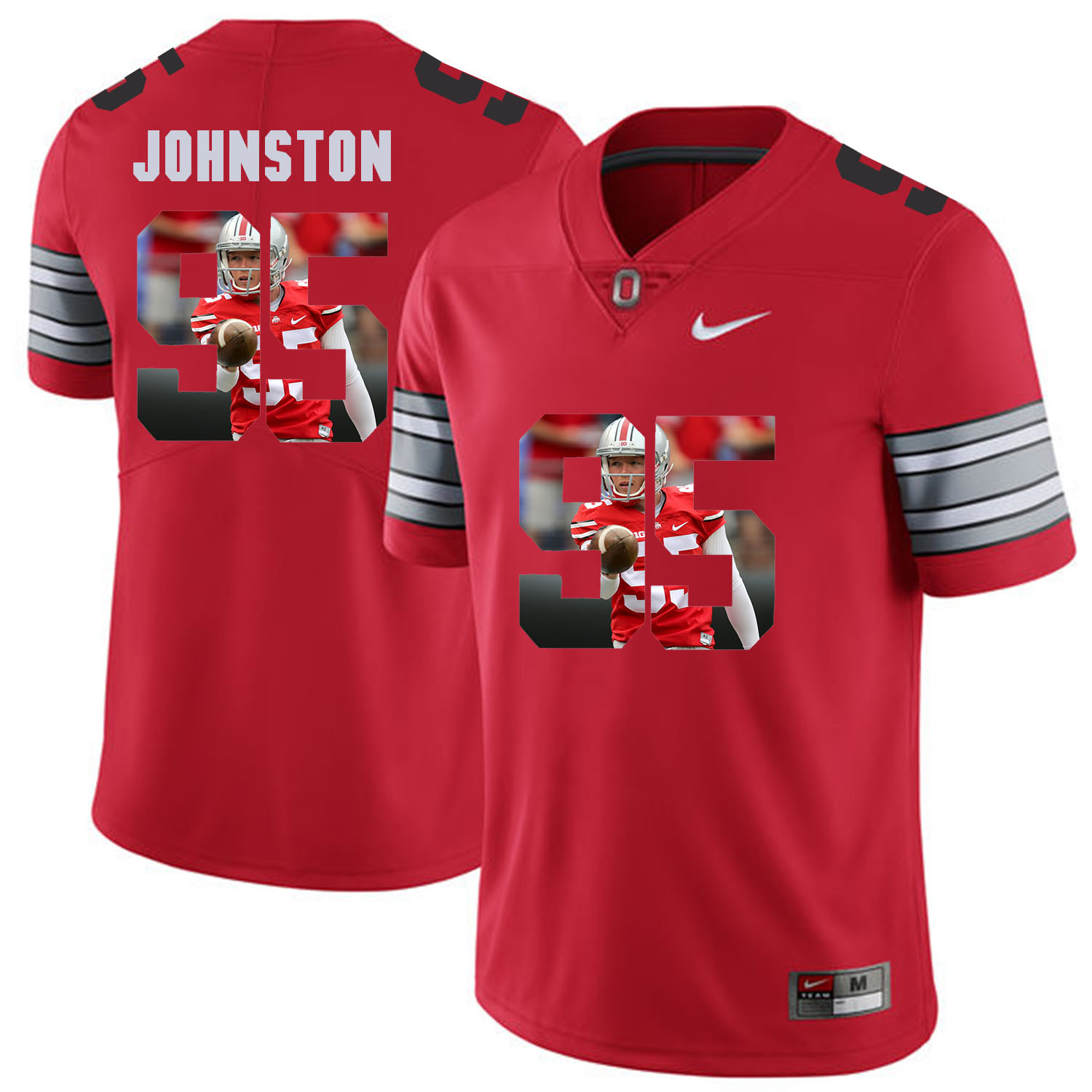 Men Ohio State 95 Johnston Red Fashion Edition Customized NCAA Jerseys