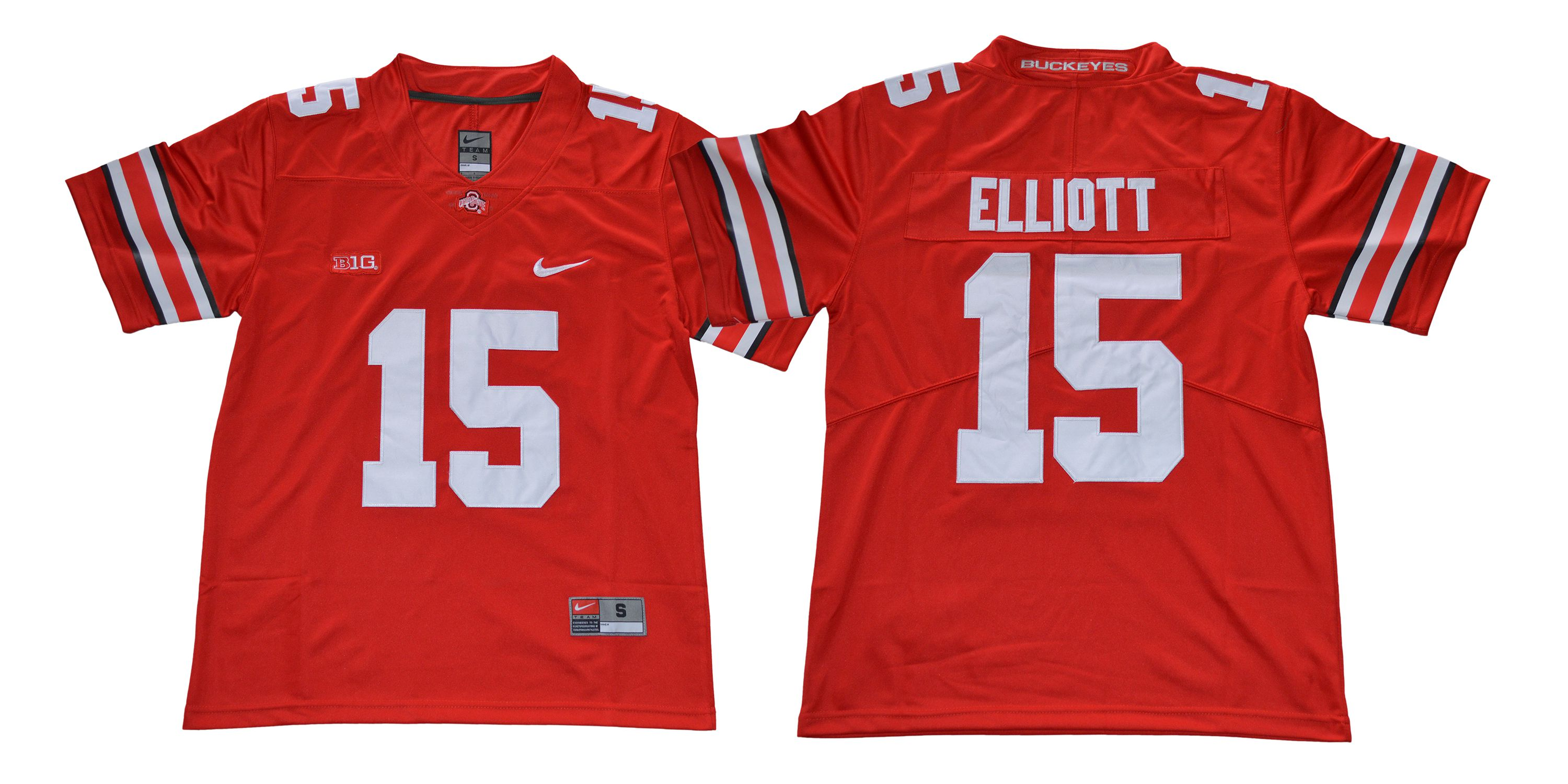 Men Ohio State Buckeyes 15 Elliott Red Nike NCAA Jerseys