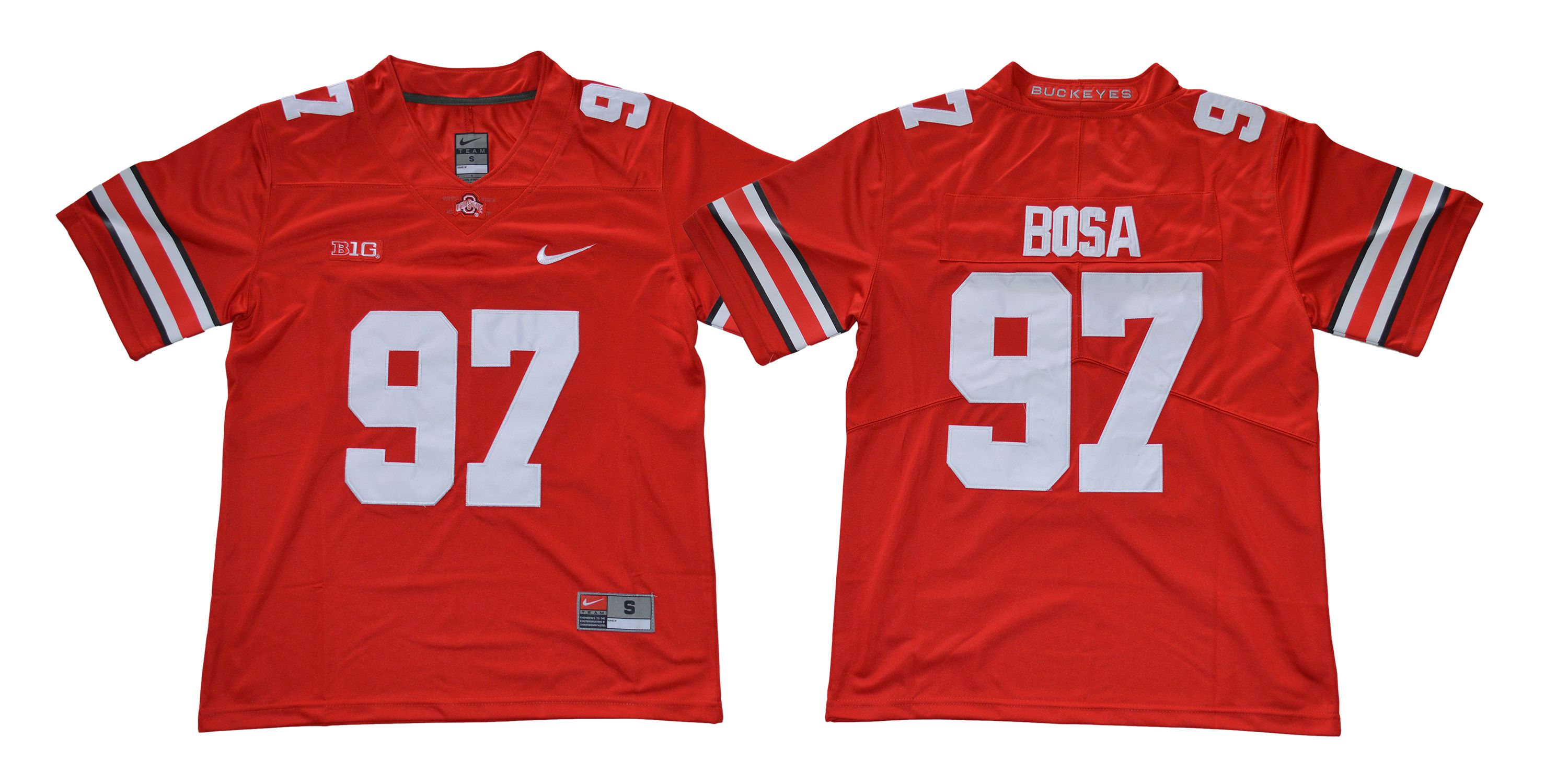 Men Ohio State Buckeyes 97 Bosa Red Nike NCAA Jerseys