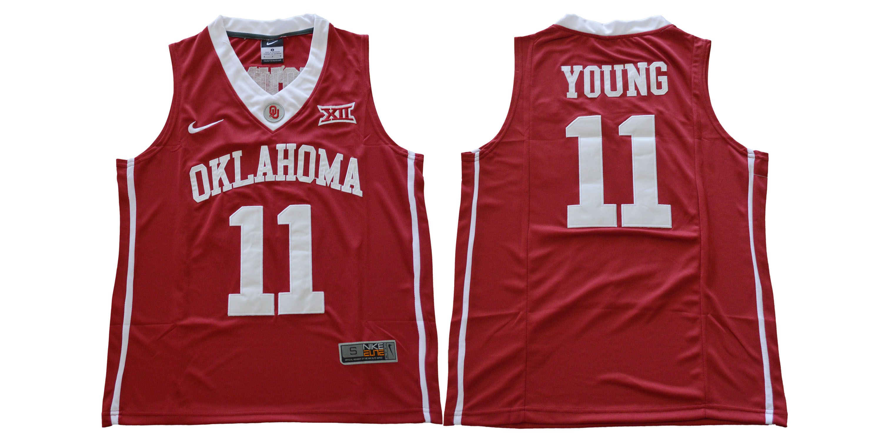 Men Oklahoma Sooners 11 Young Red Nike NCAA Jerseys