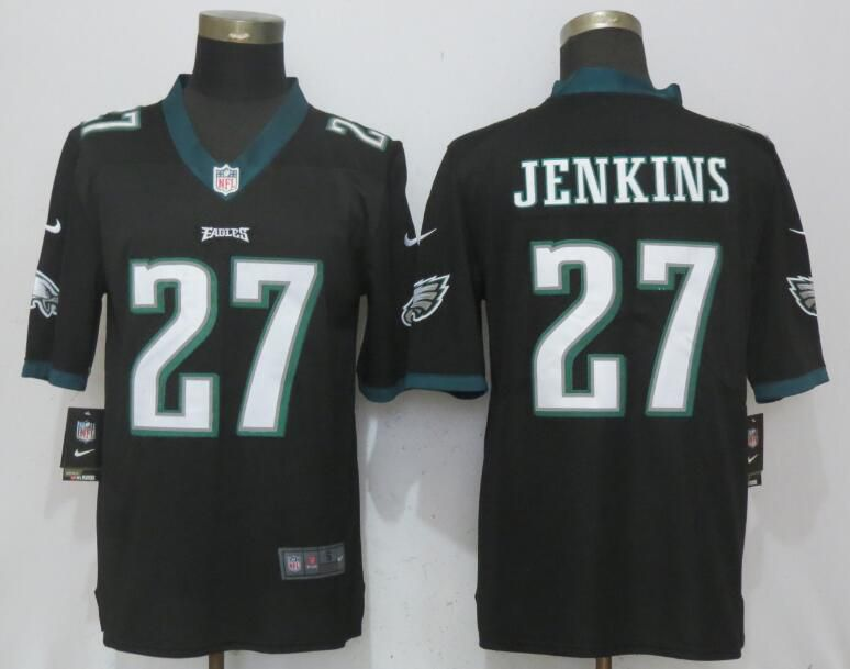 Men Philadelphia Eagles 27 Jenkins Black Vapor Untouchable New Nike Limited NFL Jerseys
