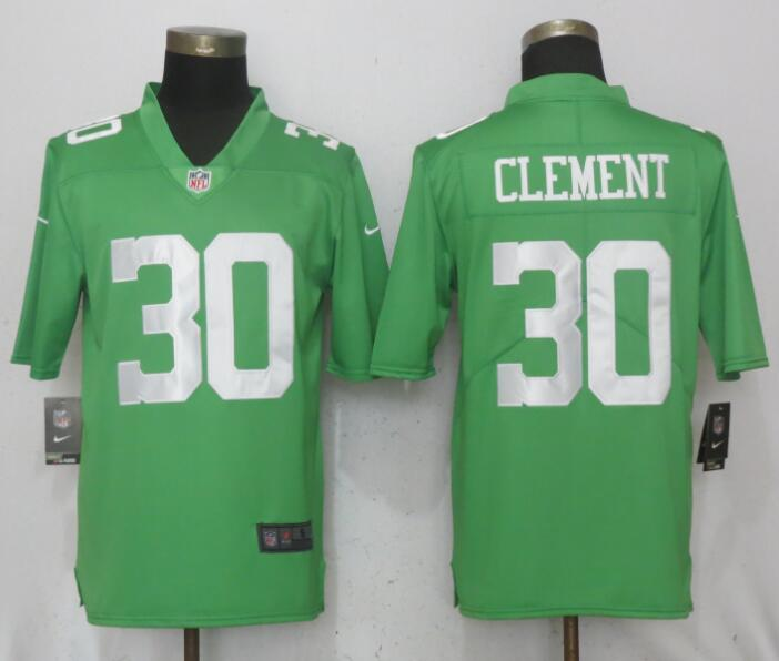 Men Philadelphia Eagles 30 Clement Wentz Green Vapor Untouchable Nike Limited NFL Jerseys