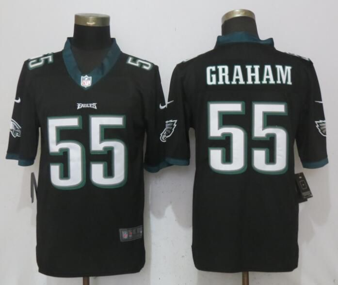 Men Philadelphia Eagles 55 Graham Black Vapor Untouchable New Nike Limited NFL Jerseys