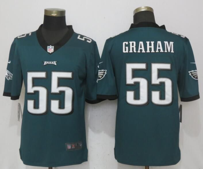 Men Philadelphia Eagles 55 Graham Green Vapor Untouchable New Nike Limited NFL Jerseys