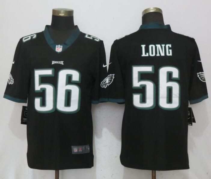 Men Philadelphia Eagles 56 Long Black Vapor Untouchable New Nike Limited NFL Jerseys