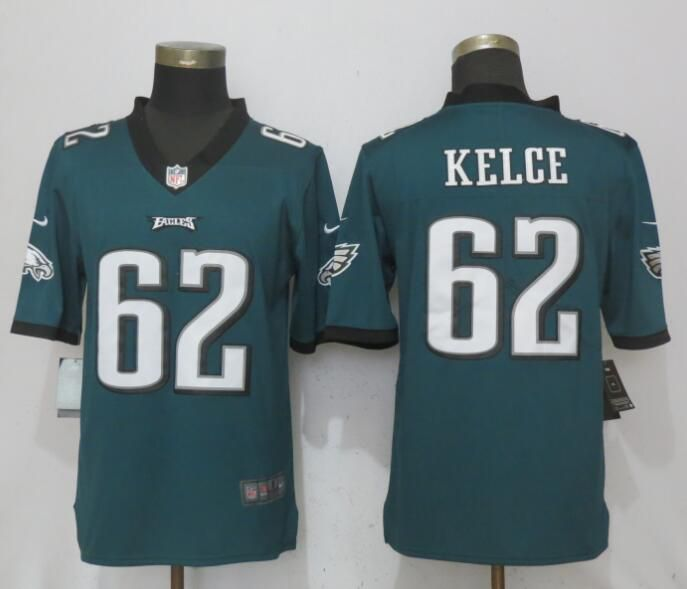 Men Philadelphia Eagles 62 Kelce Green Vapor Untouchable New Nike Limited NFL Jerseys
