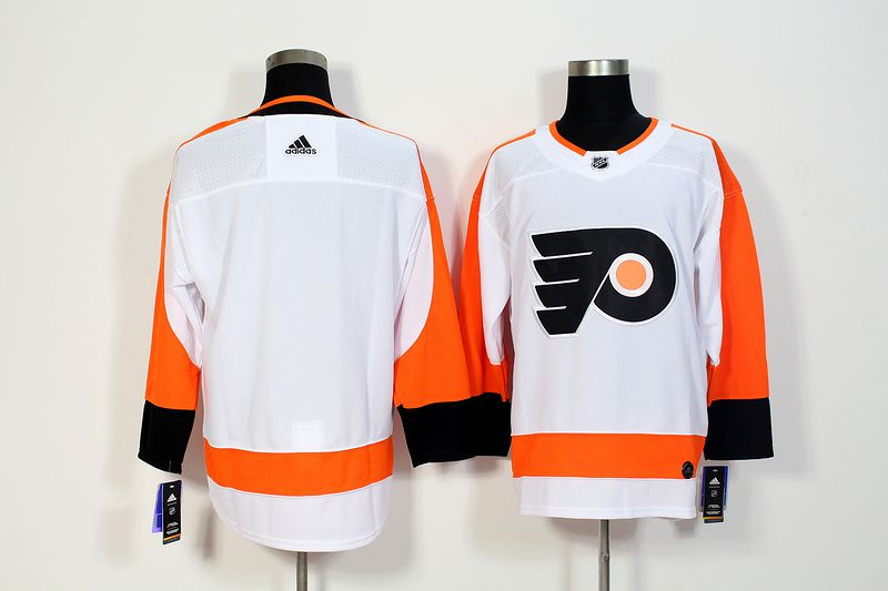 Men Philadelphia Flyers Blank White Hockey Stitched Adidas NHL Jerseys