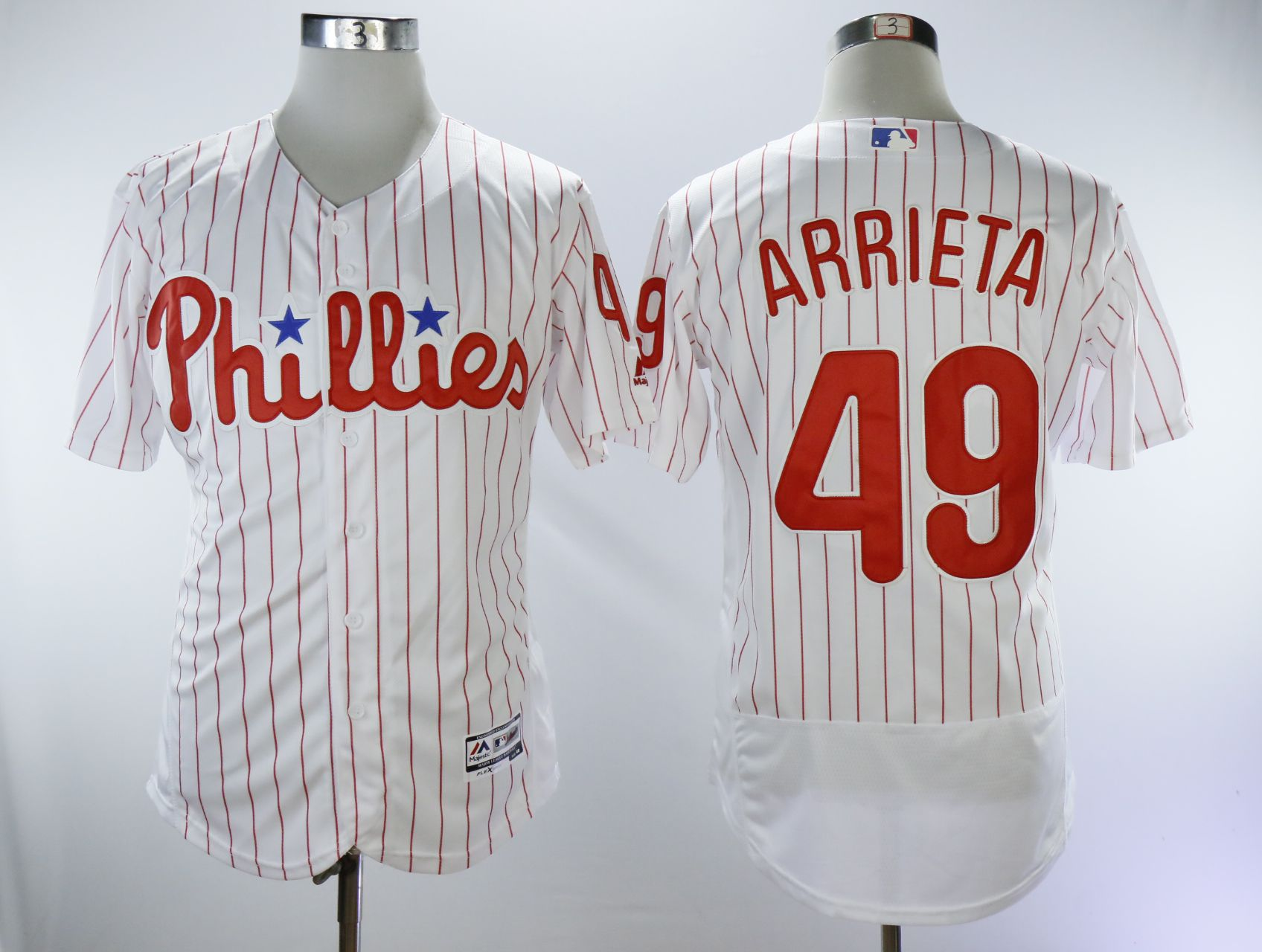 Men Philadelphia Phillies 49 Arrieta White Elite MLB Jerseys