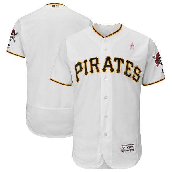 Men Pittsburgh Pirates Blank White Mothers Edition MLB Jerseys