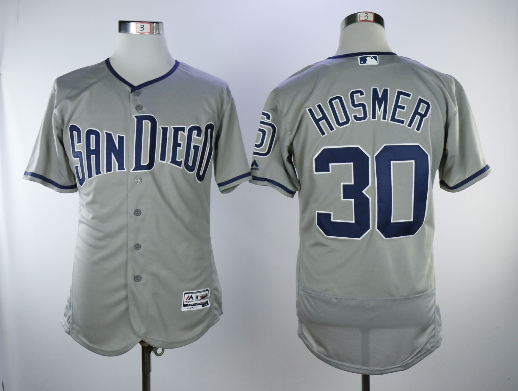 Men San Diego Padres 30 Hosmer Grey Elite MLB Jerseys