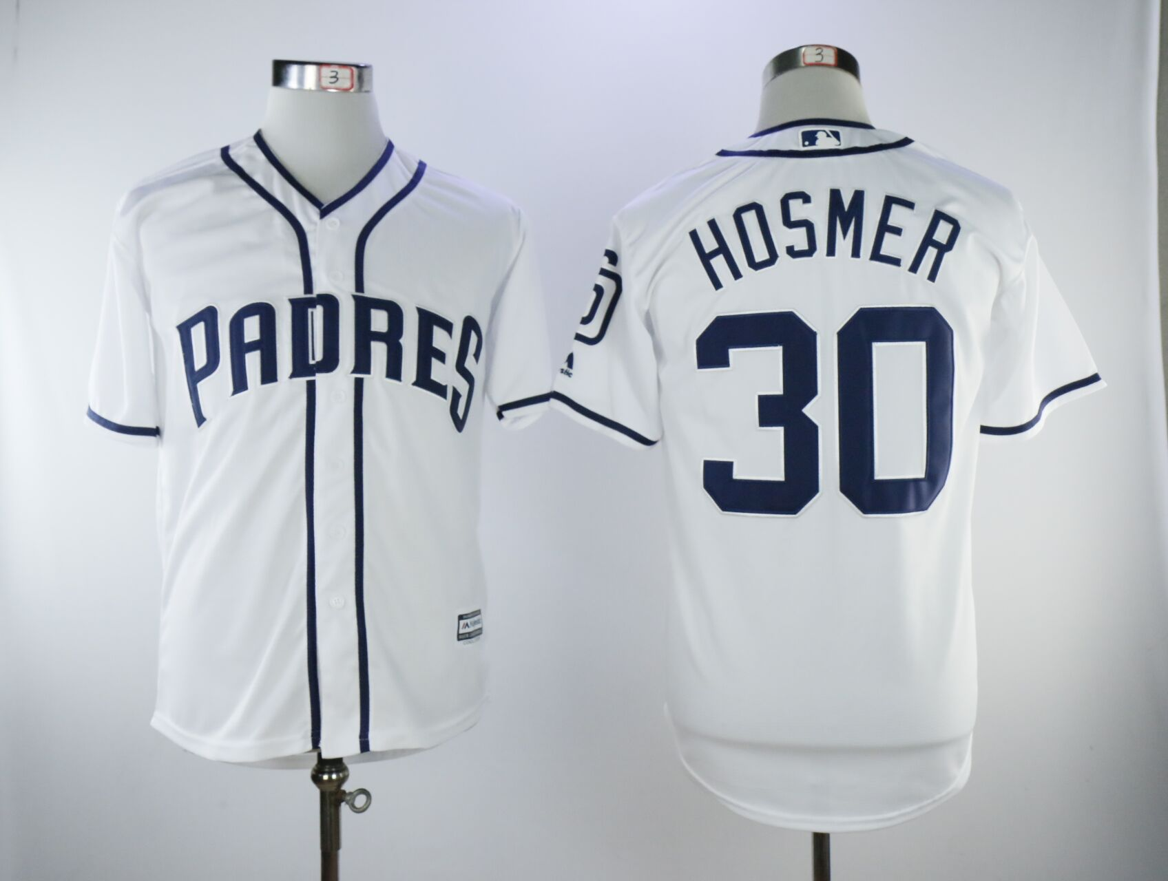 Men San Diego Padres 30 Hosmer White Game MLB Jerseys