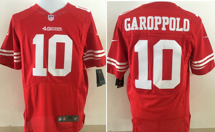 Men San Francisco 49ers 10 Garoppolo Red Nike Elite NFL Jerseys