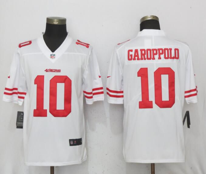 Men San Francisco 49ers 10 Garoppolo White Vapor Untouchable Limited Nike NFL Jerseys